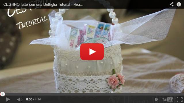 Video tutorial creare un cestino shabby chic ricilando for Cestini shabby
