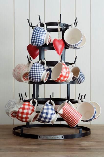 Le pi belle foto con tessuti a quadretti in stile country - Porta tazze ikea ...