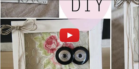 Video tutorial come creare un quadro porta orecchini in - Creare porta orecchini ...