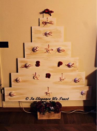 Come costruire un albero di Natale in legno in stile Shabby Chic