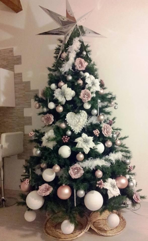 mattonelle marroni con decori fiori oro : Gli alberi di Natale pi? belli delle fans di Shabby Chic e ...