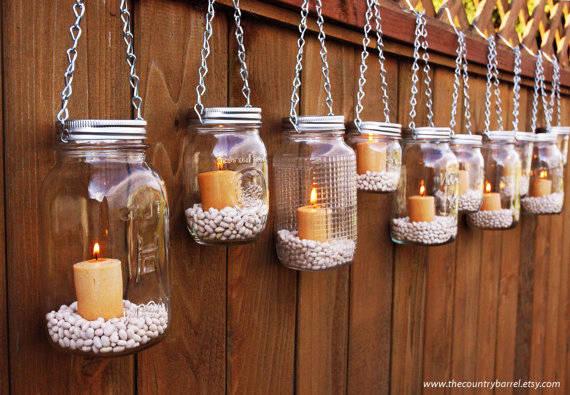 15 idee shabby chic per riutilizzare vecchi barattoli in vetro