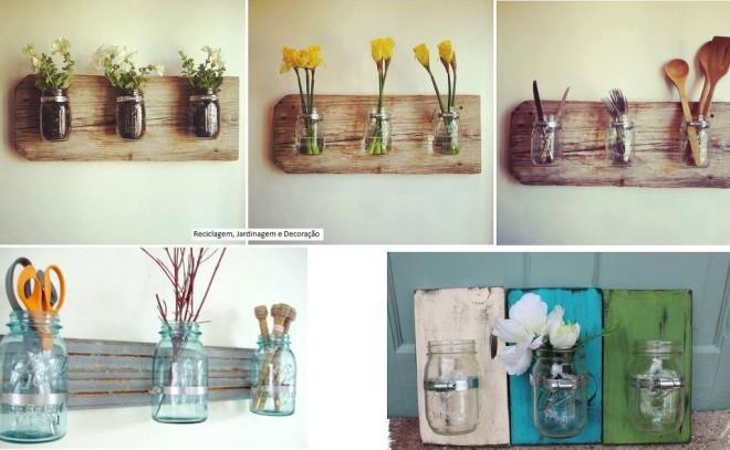 Lampada Barattolo Di Latta : 15 idee shabby chic per riutilizzare vecchi barattoli in vetro