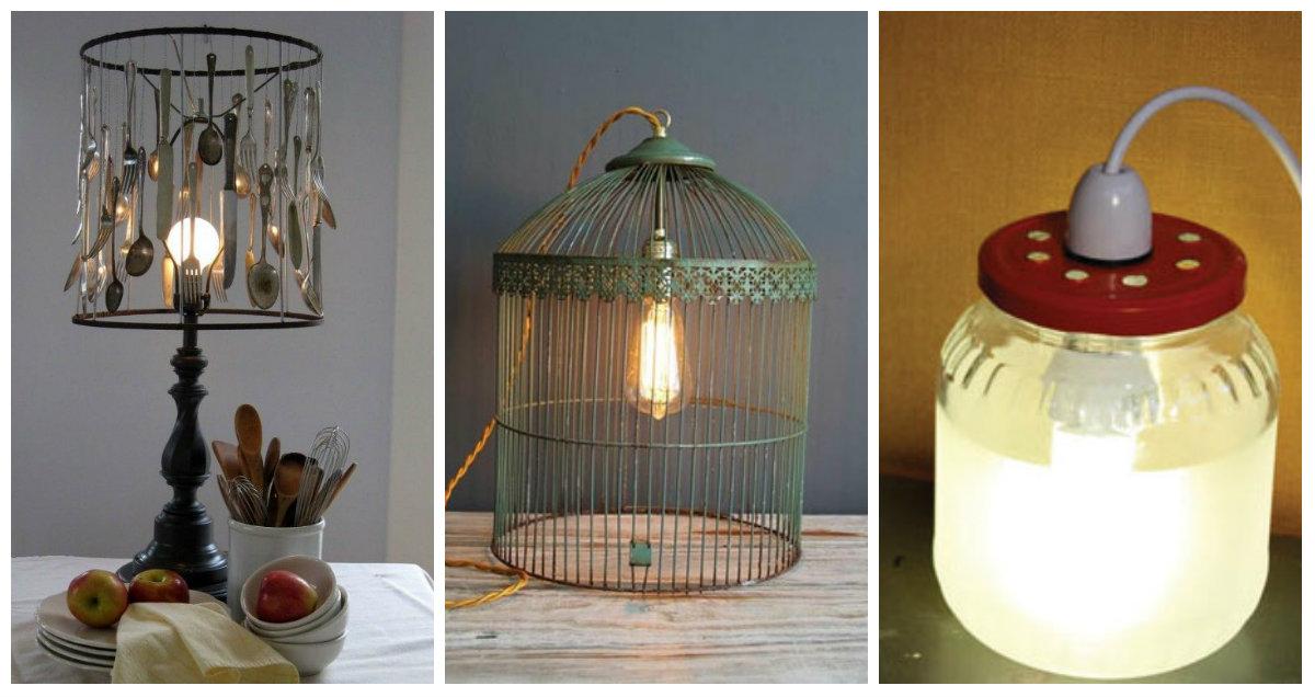 5 consigli originali nel 2018 per creare delle lampade da - Lampade da tavolo fai da te ...