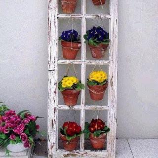 finestra come portafiori da giardino