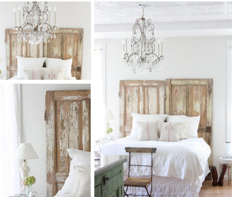 10 idee per riutilizzare vecchie porte in stile shabby - Testiera letto originale ...
