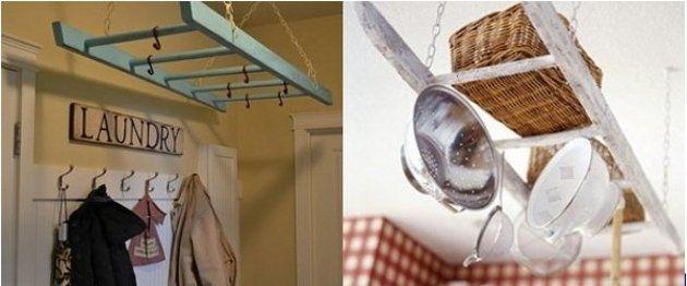 13 idee per arredare la casa con vecchie scale in stile country e ... - Arredare Casa Country
