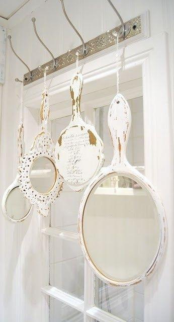 7 idee per riutilizzare vecchi specchi in stile shabby - Specchio ovale shabby chic ...