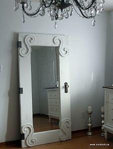 7 idee per riutilizzare vecchi specchi in stile shabby chic arredamento provenzale - Specchio da porta ...