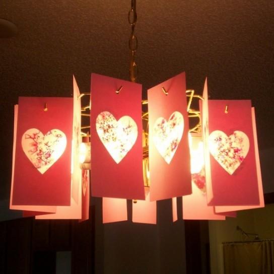 Lampada Cartone Shabby Chic