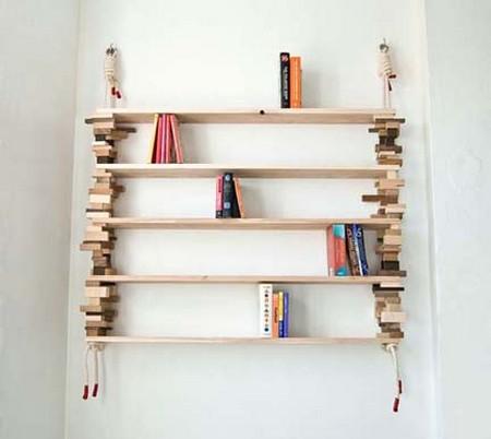 Libreria Con Scarti Del Legno Stile Shabby Chic
