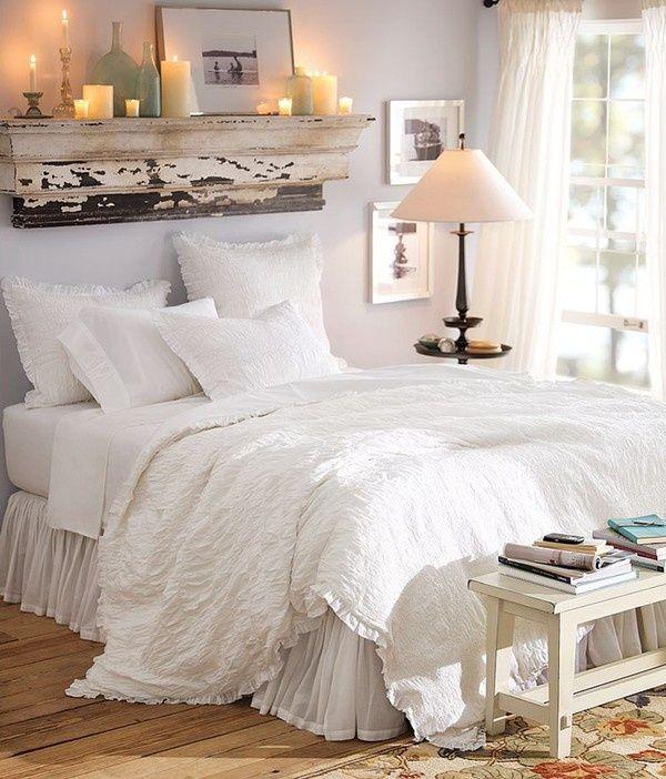 idee per personalizzare la testiera del letto in stile Shabby Chic ...