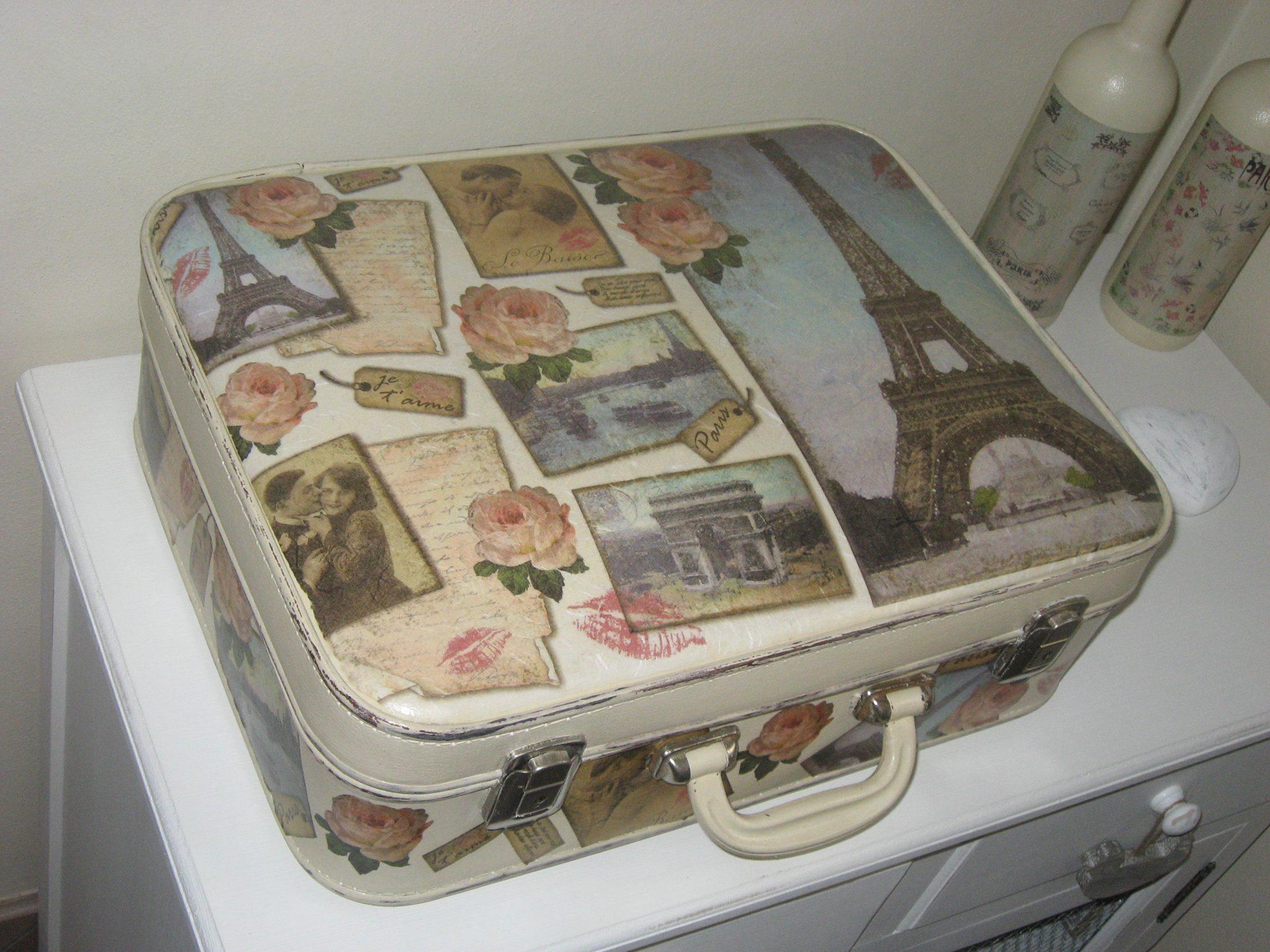 Matrimonio Tema Viaggi Vintage : Come recuperare una vecchia valigia rendendola shabby chic