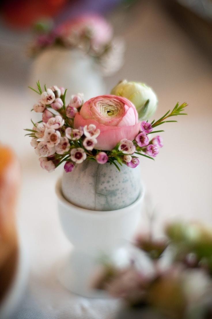 fiori nel guscio stile shabby chic