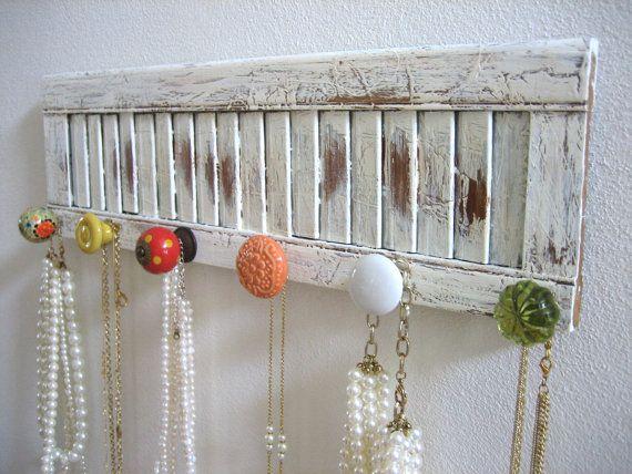 12 idee per riutilizzare vecchie persiane nell 39 arredamento shabby chic provenzale country - Wooden art mobili ...