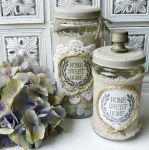 5 idee per decorare i barattoli in stile Shabby Chic, Provenzale ...