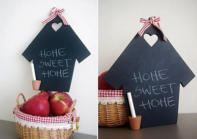 lavagna a forma di casa
