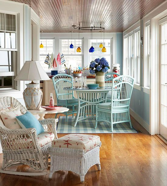 8 idee per un portico che abbia un tocco shabby chic for Indoor patio decorating ideas