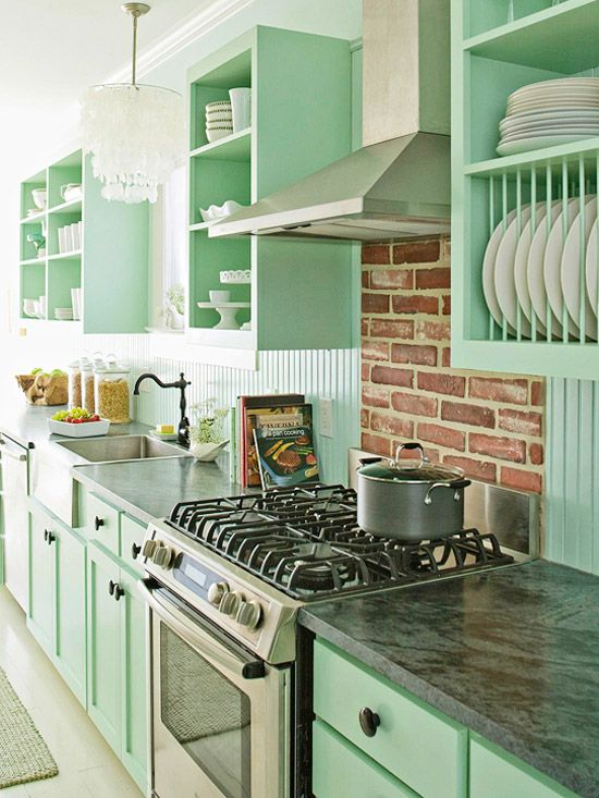 7 idee per arredare con il verde menta la casa shabby chic for Cute yellow kitchen ideas