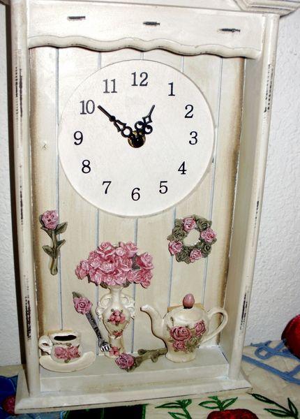 7 idee per un orologio in stile shabby chic provenzale o for Orologio shabby chic