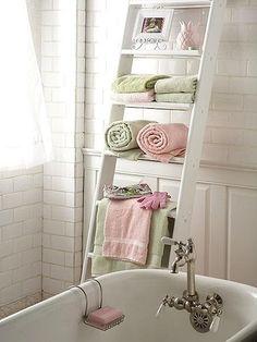 7 idee per utilizzare la scala a pioli nella casa in stile for Sognare asciugamani
