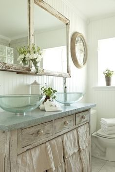 7 dettagli creativi per personalizzare il bagno in stile shabby chic provenzale o country - Bagno country chic ...