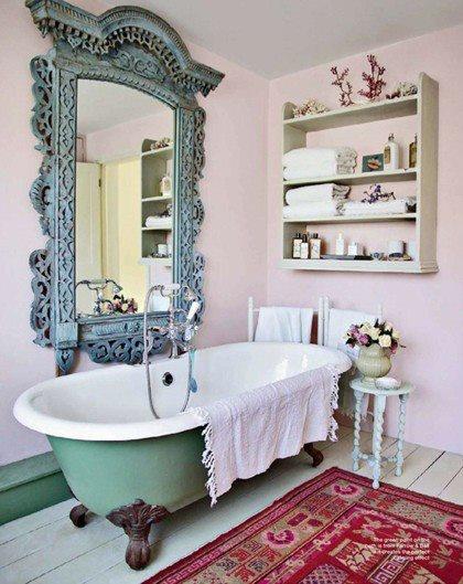 7 dettagli creativi per personalizzare il bagno in stile - Bagno country chic ...