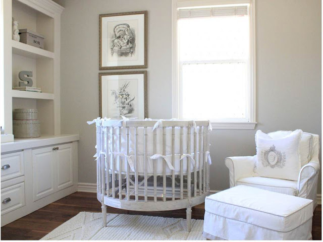 7 idee per la camera del neonato in stile shabby chic for Chic baby nursery ideas