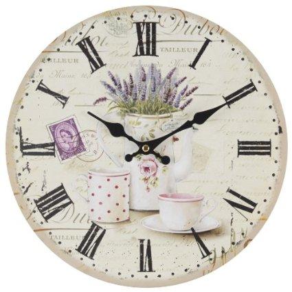 7 idee per un orologio da parete in stile shabby chic in for Orologio shabby chic