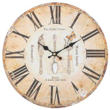 un orologio dedicato alla cucina in tutto e per tutto e al fascino delle posate vintage