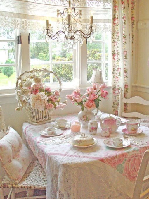 7 idee per una colazione estiva in stile shabby chic for Tovaglie shabby