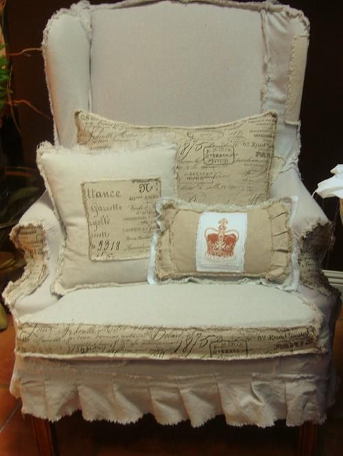 7 idee per il cuscino per la poltrona in stile shabby chic for Scritte vintage