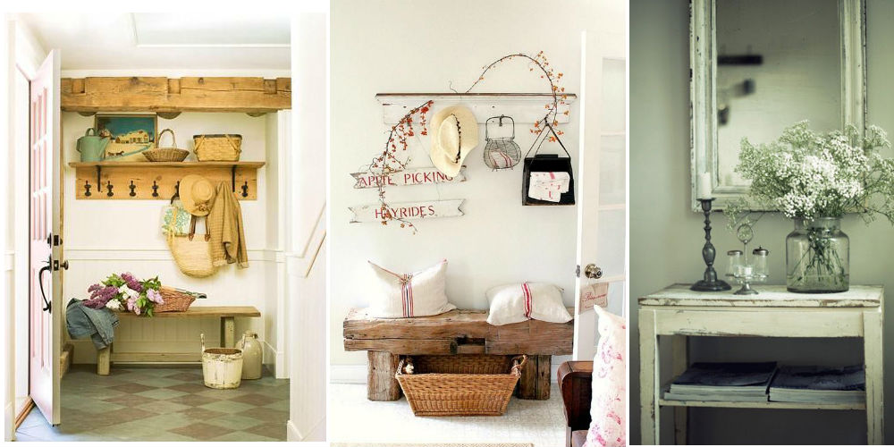 7 idee per arredare l 39 ingresso di casa in stile shabby for Casa country chic