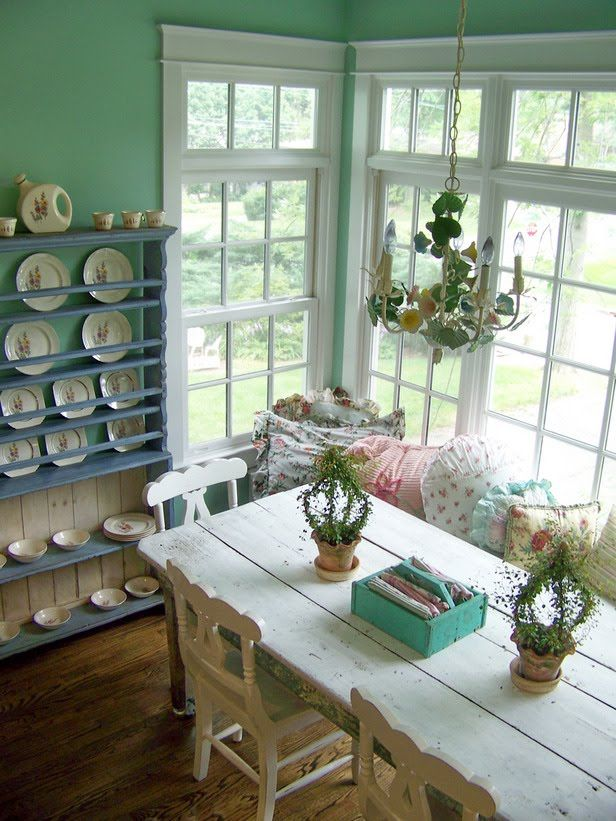 7 idee per la tua sala da pranzo in stile shabby chic - Colori pareti sala da pranzo ...