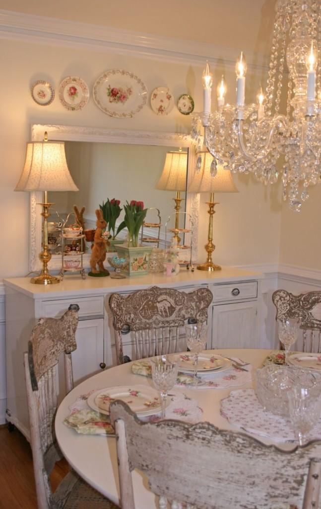 7 idee per la tua sala da pranzo in stile shabby chic for Sala da pranzo decor