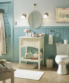 7 idee per arredare il bagno con colori chiari in stile shabby chic provenzale e country - Bagno provenzale shabby ...