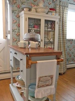 7 idee per un carrello da cucina in stile Shabby Chic, Provenzale e ...