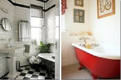 idee per una vasca da bagno in stile Shabby Chic, Provenzale e ...