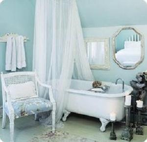 Vasca Da Bagno Azzurra.8 Idee Per Una Vasca Da Bagno In Stile Shabby Chic Provenzale E