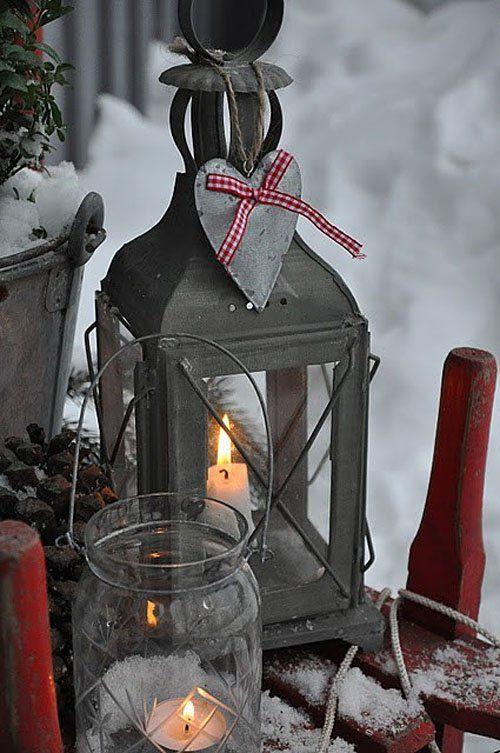 7 idee per una lanterna natalizia in stile shabby chic for Decorazione lanterne natale