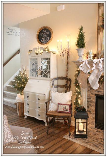 7 idee natalizie per il salotto in stile shabby chic