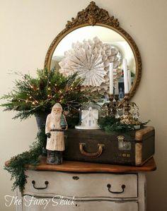 7 idee natalizie per il salotto in stile shabby chic for Specchio salotto