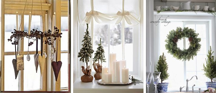 idee per finestre decorate a tema natalizio in stile Shabby Chic ...