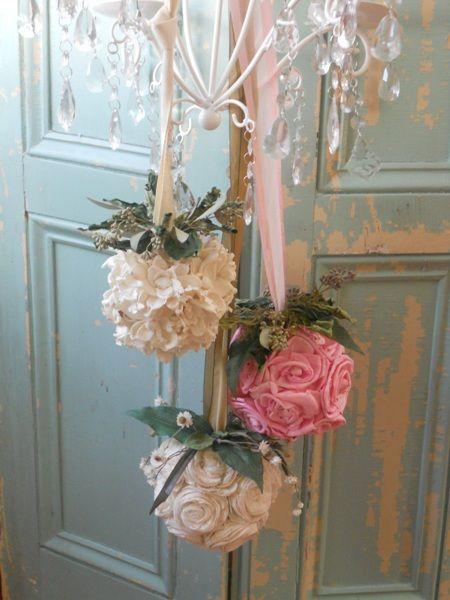I fiori per le decorazioni natalizie in stile shabby chic for Fiori di stoffa shabby chic