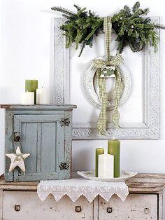 Decoriamo l\'ingresso di casa per Natale in stile Shabby Chic ...