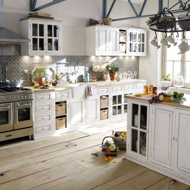 La cucina shabby chic provenzale e country secondo i for Meuble cuisine maison du monde