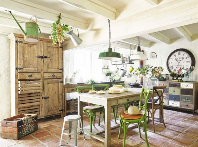 La cucina shabby chic provenzale e country secondo i for Decoration maison style campagne