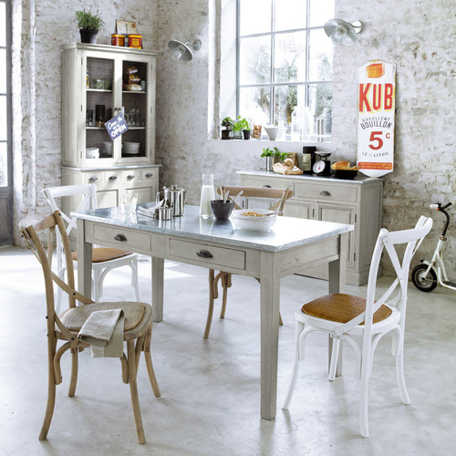 La cucina shabby chic provenzale e country secondo i - Table de cuisine maison du monde ...