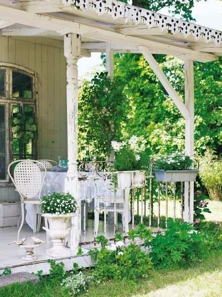 Ispirazioni outdoor in stile shabby chic da dalani e blanc for Gartengestaltung country
