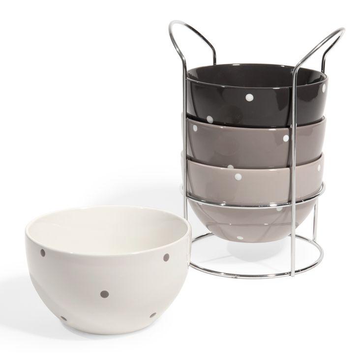 Accessori a pois per la vostra cucina direttamente da for Accessori bagno maison du monde
